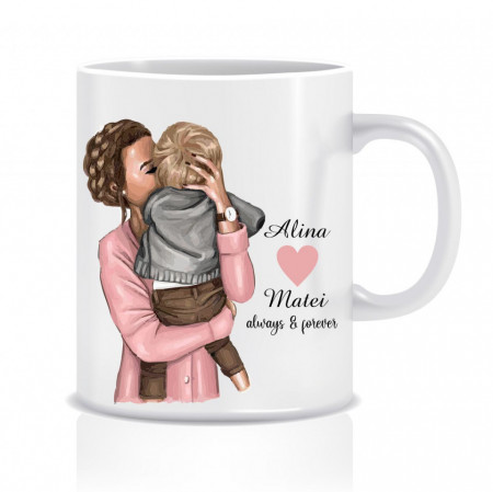 Cana personalizata mama si fiul MOM&SON II