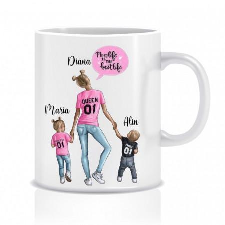 Cana personalizata mama si copii - MOM&CHILDRENS