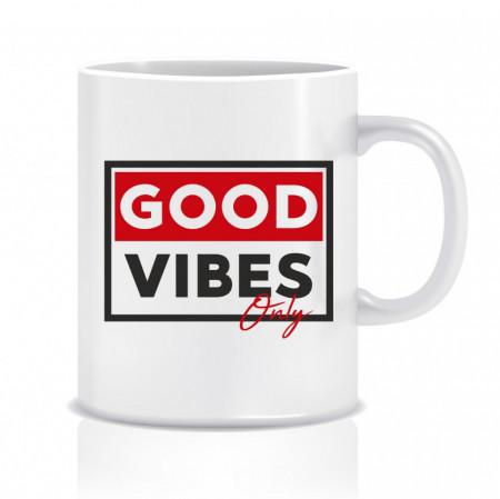Cana personalizata Good vibes
