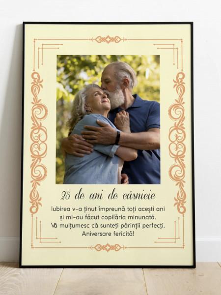 Tablou personalizat pentru nunta de argint