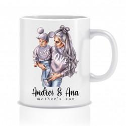 Cana personalizata MOM&SON