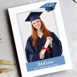 Felicitare personalizata pentru absolvire