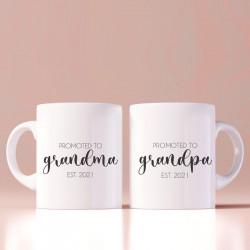Set de doua cani personalizate Grandma & Grandpa