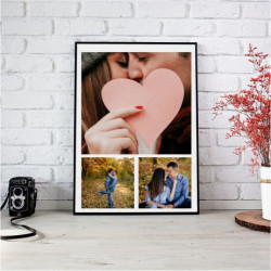 Tablou personalizat cu 3 fotografii