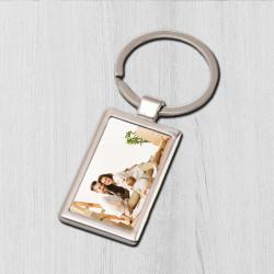 Breloc personalizat cu fotografie - dreptunghi