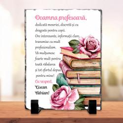 Piatra personalizata cu mesaj pentru profesor