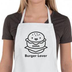Sort de bucatarie personalizat Burger Lover