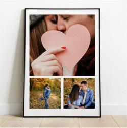Tablou personalizat cu trei fotografii