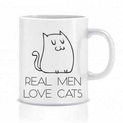 Cana personalizata - Real men, love cats!