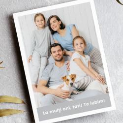 Felicitare personalizata cu fotografie de familie