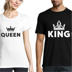 Set de tricouri personalizate King & Queen