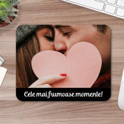 Mousepad personalizat cu fotografie si text