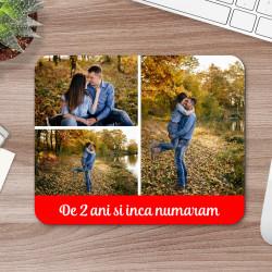 Mousepad personalizat cu trei fotografii si text