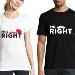 Set de tricouri personalizate Mr&Mrs