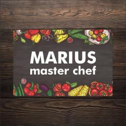 Tocator personalizat cu nume - legume