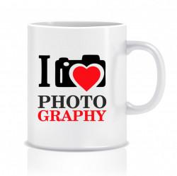 Cana personalizata pentru fotografi - I love photography