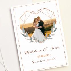 Felicitare personalizata cu fotografie casnicie