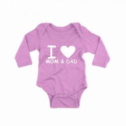 Body personalizat I love MOM & DAD