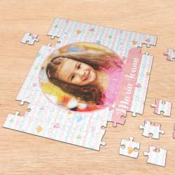 Puzzle personalizat cu o fotografie si nume fetita