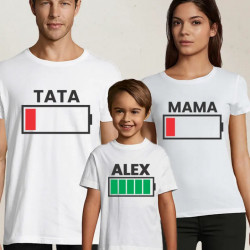 Set de tricouri personalizate low battery
