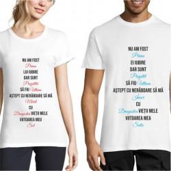 Set de tricouri personalizate cuplu