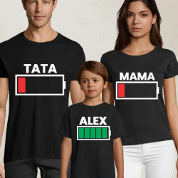 Set de tricouri personalizate pentru familie