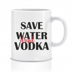 Cana personalizata Save water