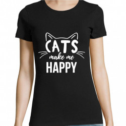 Tricou Cats make me happy
