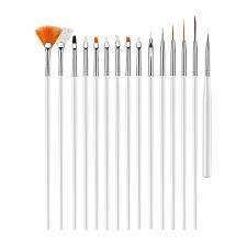 Set 15 pensule gel si nail art