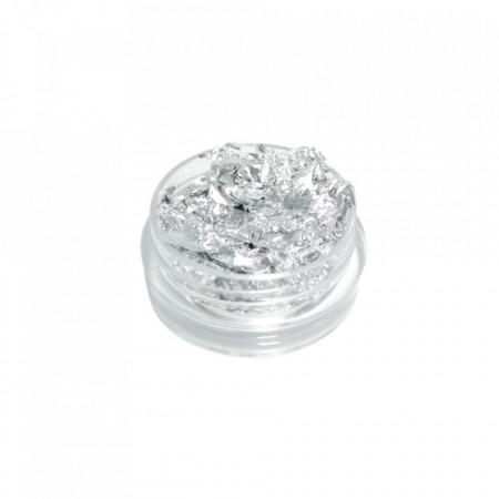 Foita creponata unghii argintie