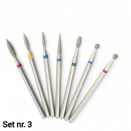 Set 7 capete diamantate (Dry manicure) nr. 3