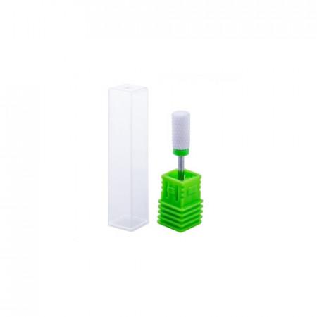 Cap freza ceramic cilindru verde - Dur (coarse)