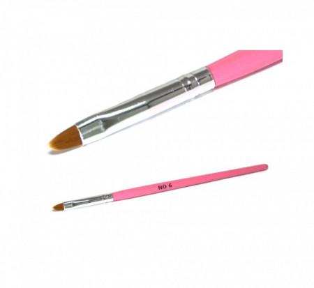 Pensula pentru gel, varf oval nr. 6