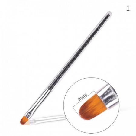 Pensula varf oval nr.6 G16-20 (maner cristale negre)
