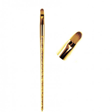 Pensula varf oval nr. 6 shiny gold