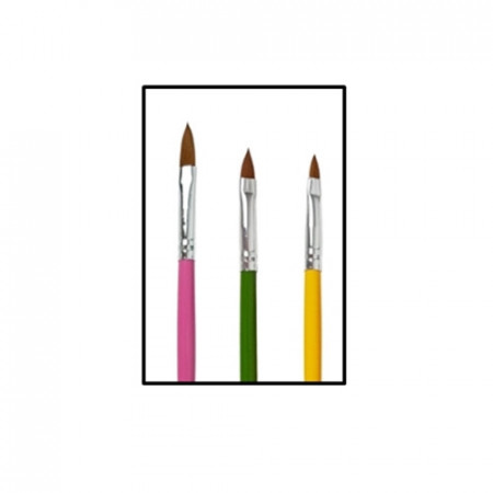 set 3 pensule pentru acryl