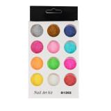 Set 12 culori sclipici fin G1202