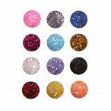 Set 12 culori sclipici hexagon