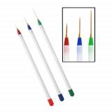 Set 3 pensule pictura NBS03F (rosu,verde, albastru)