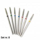 Set 7 capete diamantate (Dry manicure) nr. 8