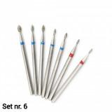Set 7 capete diamantate (Dry manicure) nr. 6
