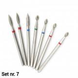 Set 7 capete diamantate (Dry manicure) nr. 7