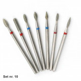 Set 7 capete diamantate (Dry manicure) nr. 10