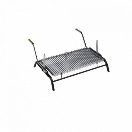 Griglia bistecchiera rotante, brevettata, per camini d'interno ed esterno mod. TURN GRILL 60