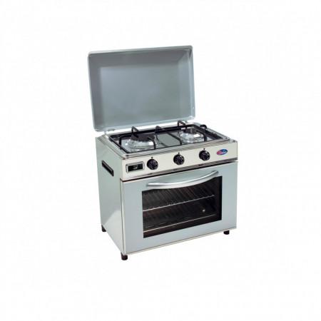 Baby cucina per uso domestico mod. FO600 SAGGP. Colore: Fianchi inox e coperchio grigio