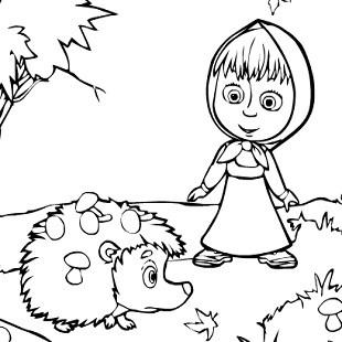 Игры для маленьких маша и медведь раскраска