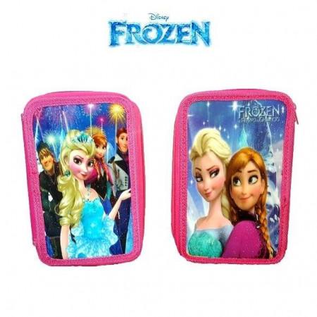 Slika Frozen trodelna pernica puna školskog pribora