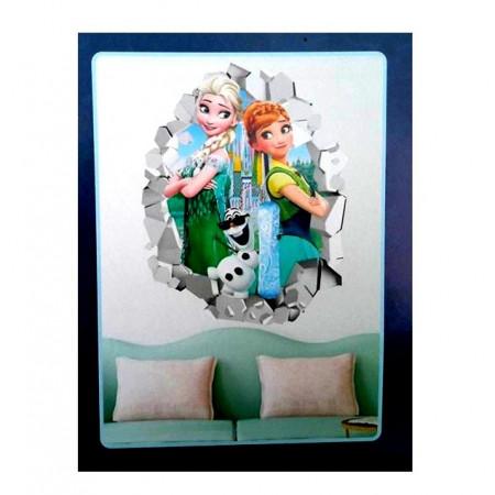 Slika Frozen Elsa&Anna veliki 5D dekorativni stiker