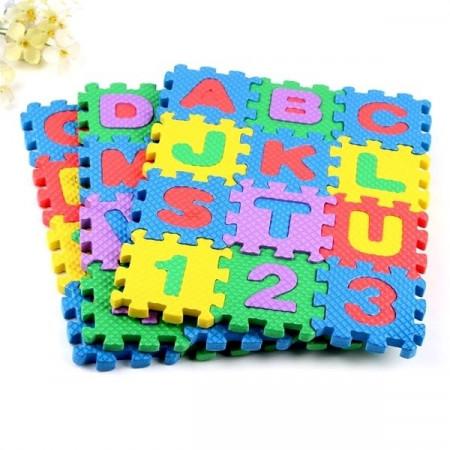 Slika Mekane mini puzle za igru sa slovima i brojevima