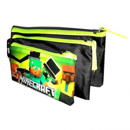 Slika Minecraft trodelna pernica/torbica